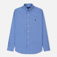 Мужская рубашка Polo Ralph Lauren Slim Fit Stretch Poplin Blue фото- 0