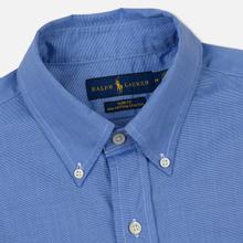 Мужская рубашка Polo Ralph Lauren Slim Fit Stretch Poplin Blue фото- 1