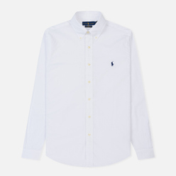 Мужская рубашка Polo Ralph Lauren Slim Fit Stretch Poplin White