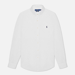 Мужская рубашка Polo Ralph Lauren Slim Fit Stretch Poplin White