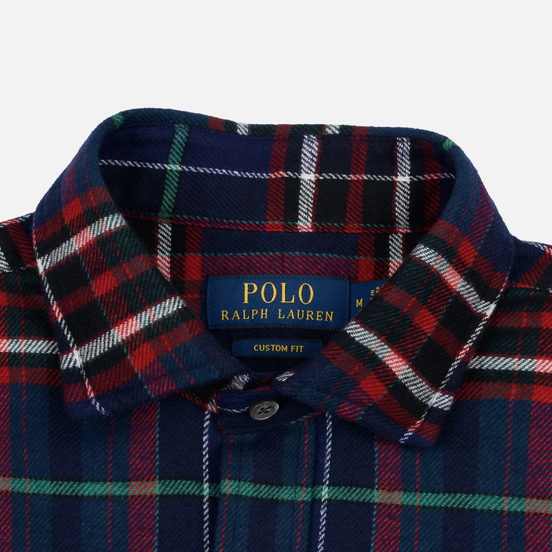 Мужская рубашка Polo Ralph Lauren Twill Plaid Crown Royal/Blanc Multi