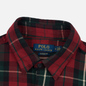 Мужская рубашка Polo Ralph Lauren Twill Plaid Elbow Patch Lamb Suede Vibe Red/Tan Multi фото - 1