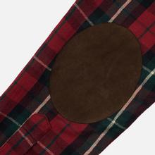 Мужская рубашка Polo Ralph Lauren Twill Plaid Elbow Patch Lamb Suede Vibe Red/Tan Multi фото- 4