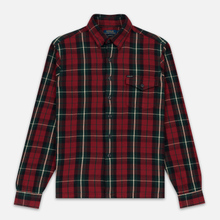 Мужская рубашка Polo Ralph Lauren Twill Plaid Elbow Patch Lamb Suede Vibe Red/Tan Multi фото- 0