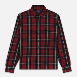Мужская рубашка Polo Ralph Lauren Twill Plaid Elbow Patch Lamb Suede Vibe Red/Tan Multi