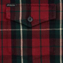 Мужская рубашка Polo Ralph Lauren Twill Plaid Elbow Patch Lamb Suede Vibe Red/Tan Multi фото- 2