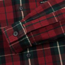 Мужская рубашка Polo Ralph Lauren Twill Plaid Elbow Patch Lamb Suede Vibe Red/Tan Multi фото- 3