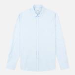 Мужская рубашка Pringle of Scotland Slim Fit Pale Blue фото- 0