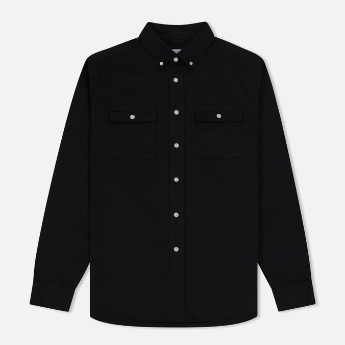 Мужская рубашка Saturdays Surf NYC Angus Broken Twill Black