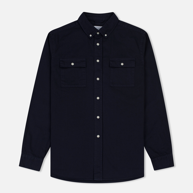 Мужская рубашка Saturdays Surf NYC Angus Broken Twill Midnight
