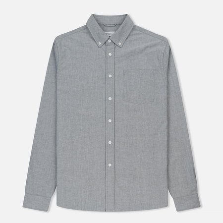 Мужская рубашка Saturdays Surf NYC Crosby Oxford Charcoal