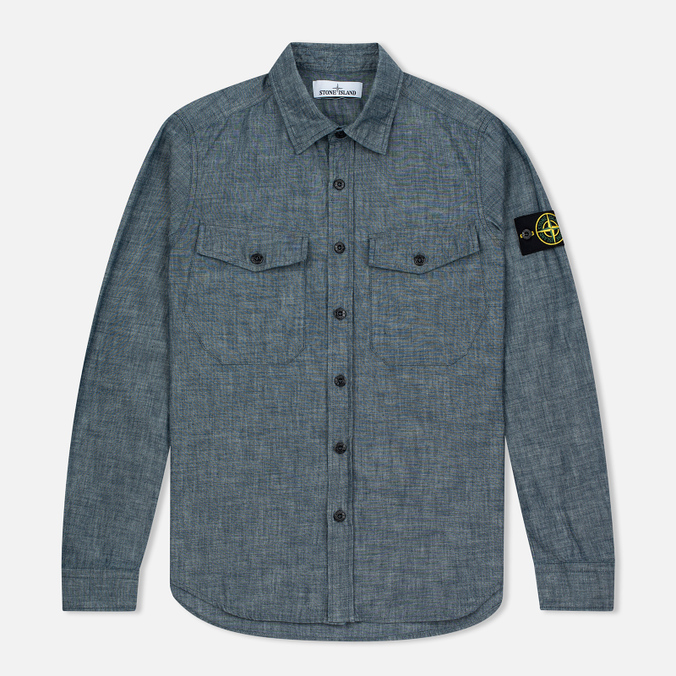 Stone Island Men's Shirt Chambray Wash