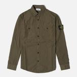 Мужская рубашка Stone Island Garment Dyed Military Green фото- 0