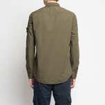 Мужская рубашка Stone Island Garment Dyed Military Green фото- 6