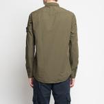 Мужская рубашка Stone Island Garment Dyed Military Green фото- 6