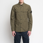 Мужская рубашка Stone Island Garment Dyed Military Green фото- 5