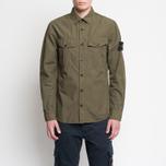 Мужская рубашка Stone Island Garment Dyed Military Green фото- 5
