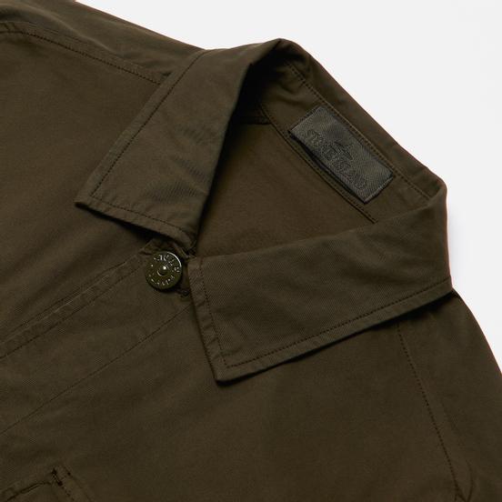 Мужская рубашка Stone Island Ghost Piece Overshirt Military Green