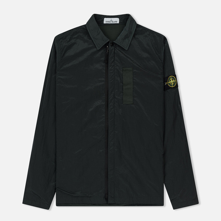 Мужская рубашка Stone Island Nylon Metal Overshirt Dark Green
