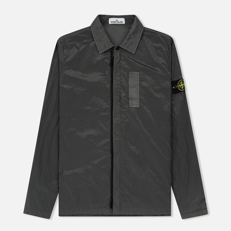 Мужская рубашка Stone Island Nylon Metal Overshirt Grey