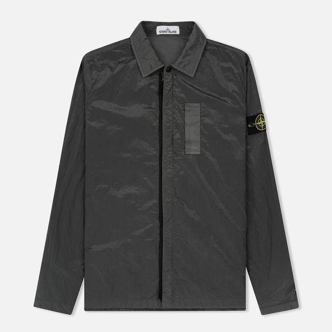 Мужская рубашка Stone Island Nylon Metal Overshirt Grey