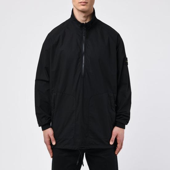 Мужская рубашка Stone Island Overshirt Half-Zip Black