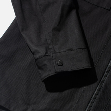 Мужская рубашка Stone Island Regular Fit Canvas Cotton Blend Zip Black фото- 2