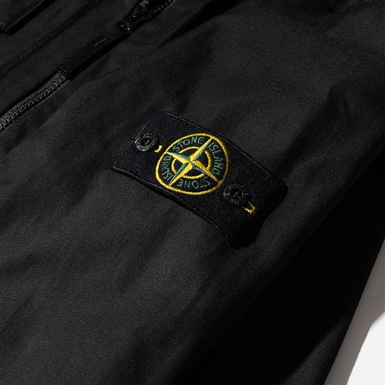 Мужская рубашка Stone Island Regular Fit Canvas Cotton Blend Zip Black