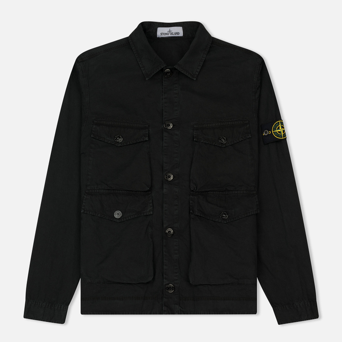 Мужская рубашка Stone Island T.CO+OLD Overshirt Black