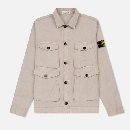 Мужская рубашка Stone Island T.CO+OLD Overshirt Tortora