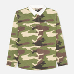 Stussy Twill Rugby Men's Shirt Camo photo- 0