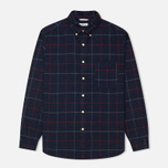 Мужская рубашка The Hill-Side Brushed Indigo Flannel Button-Down Narrow Check фото- 0