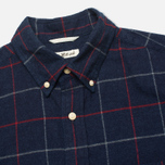 The Hill-Side Brushed Indigo Flannel Button-Down Men's Shirt Narrow Check photo- 1