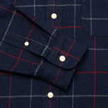 Мужская рубашка The Hill-Side Brushed Indigo Flannel Button-Down Narrow Check фото- 3