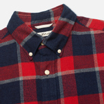 Мужская рубашка The Hill-Side Brushed Indigo Flannel Button-Down Wide Check фото- 1