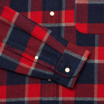 Мужская рубашка The Hill-Side Brushed Indigo Flannel Button-Down Wide Check фото- 3