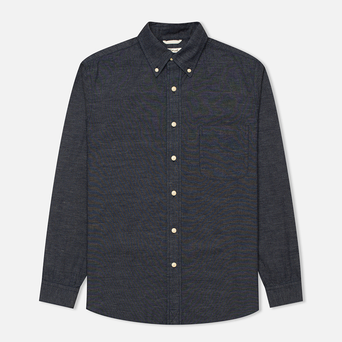 Мужская рубашка The Hill-Side Covert Chambray Button-Down Dark Indigo