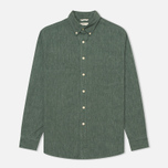 Мужская рубашка The Hill-Side Covert Chambray Button-Down Green фото- 0