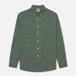 The Hill-Side Covert Chambray Button-Down Men's Shirt Green photo- 0
