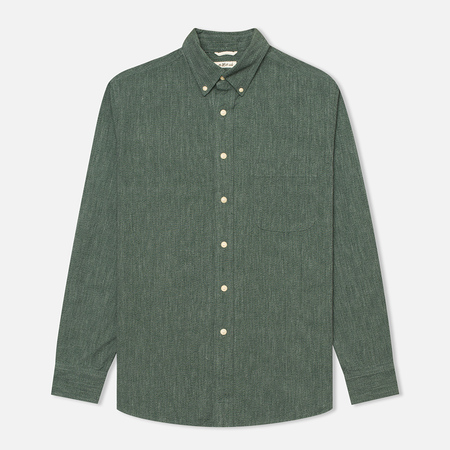 The Hill-Side Covert Chambray Button-Down Men's Shirt Green