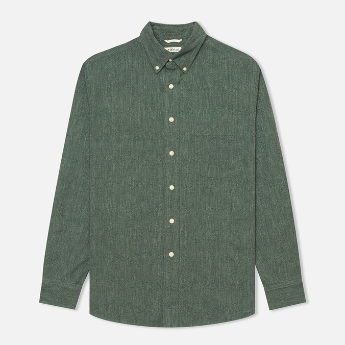 Мужская рубашка The Hill-Side Covert Chambray Button-Down Green