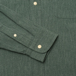 The Hill-Side Covert Chambray Button-Down Men's Shirt Green photo- 3