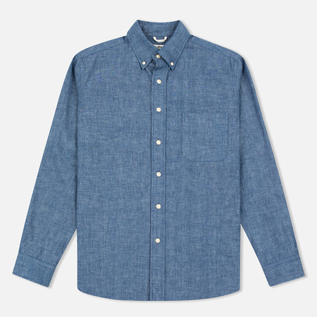 The Hill-Side Selvedge Chambray Button-Down Men's Shirt Indigo