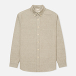 Мужская рубашка The Hill-Side Selvedge Oxford Cloth Button-Down Olive фото- 0