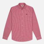 Мужская рубашка Timberland Rattle River Slim Fit Gingham Haute Red фото- 0