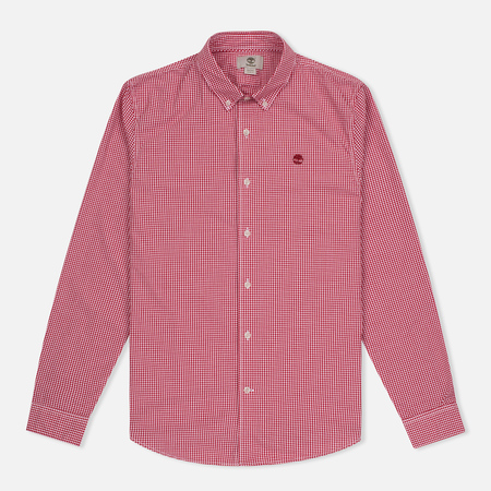 Мужская рубашка Timberland Rattle River Slim Fit Gingham Haute Red
