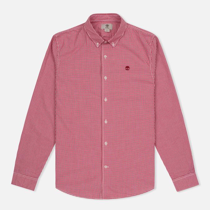Мужская рубашка Timberland Rattle River Slim Fit Gingham Haute Red