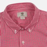 Мужская рубашка Timberland Rattle River Slim Fit Gingham Haute Red фото- 1