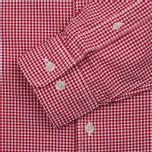 Мужская рубашка Timberland Rattle River Slim Fit Gingham Haute Red фото- 2