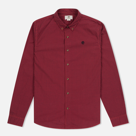Мужская рубашка Timberland Rattle River Slim Fit Gingham Mars Red